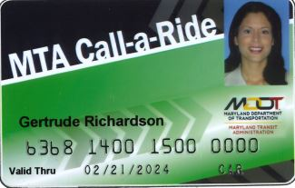 Taxi Access Card Example